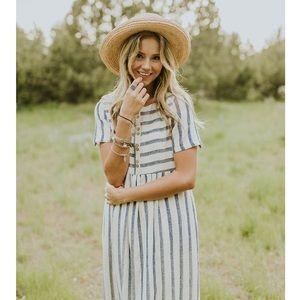 4d5645521bd Roolee Dresses | Sale Montgomery Stripe Maxi In Royal Blue | Poshmark
